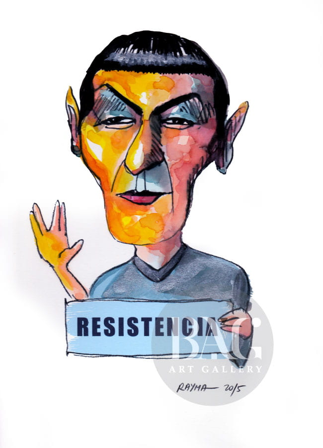 Rayma Cartoons Mr. Spock at BAG