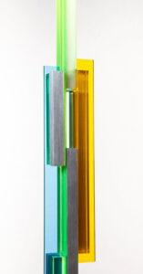 Ritmo Lineal Yellow/Blue closeup